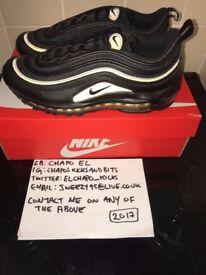 Nike Air Max 97 Black Gold UK SIZE 8