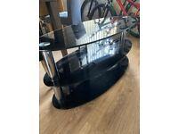 Black glass TV stand (free)