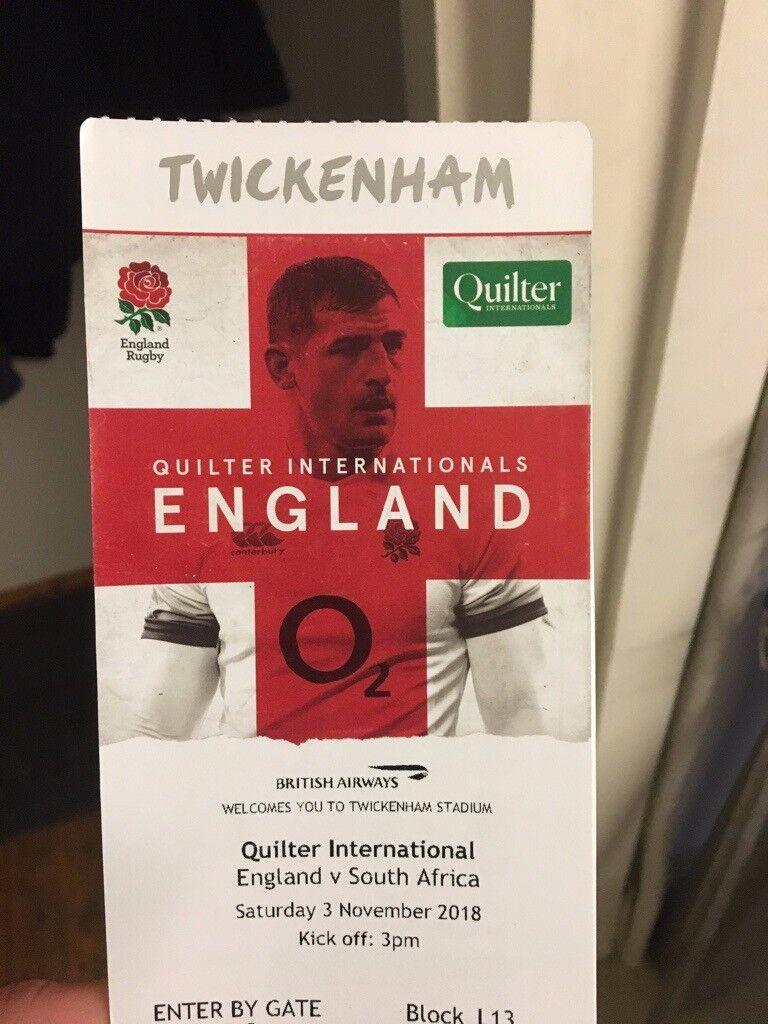 99c709f71ba 2x Tickets (Face value) England v SA 3/11/2018 - Twickenham | in ...