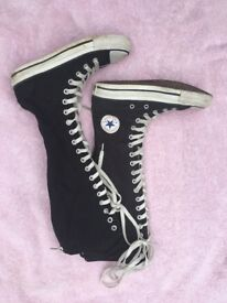 Converse All Star - knee length boots UK3