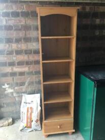 Small bookcase with drawer