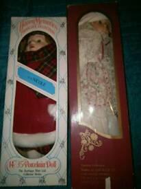 2 collectors dolls