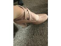 Pink ladies heels size 3