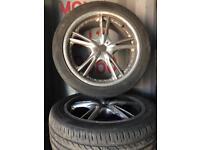 """Vauxhall & Saab 5 studs 17"""" alloy wheels"""