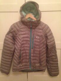 Ladies grey micro lite alpin Rab jacket size 8