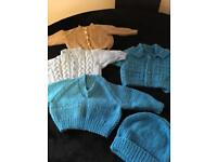 Hand knitted first size new cardigans