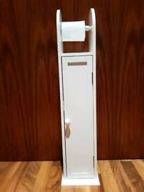 Toilet paper holder and bathroom storage