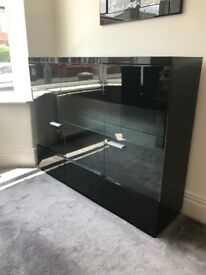 Black Gloss Display Cabinet