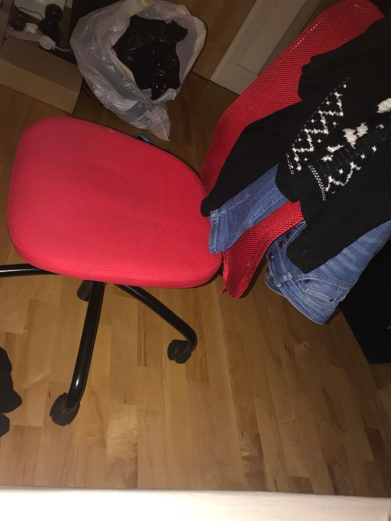 Chair ikea red for sale office chair