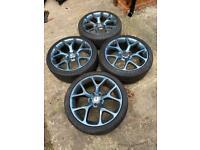 """18"""" 5x110 Vauxhall Vxr Astra Saab Van Zafira Alloy Wheels , Alloys With Tyres"""