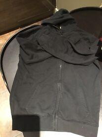 Boys plain black hoodie 15 yrs