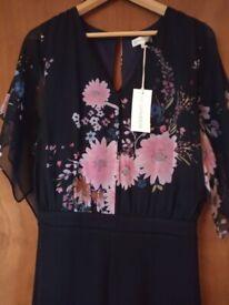 New John Rocha jumpsuit size 18 navy/pink