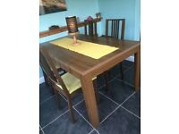 Dining table and 4 chairs with matching unit