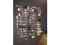 43x Empty glass bottles various sizes
