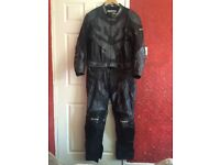 Proto 2 piece leather motorbike suit size 52 BLACK