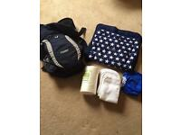 Baby items sling, buggy insert, reusable nappy with liners