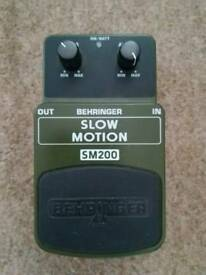Behringer Slow Motion SM200 guitar effects pedal.