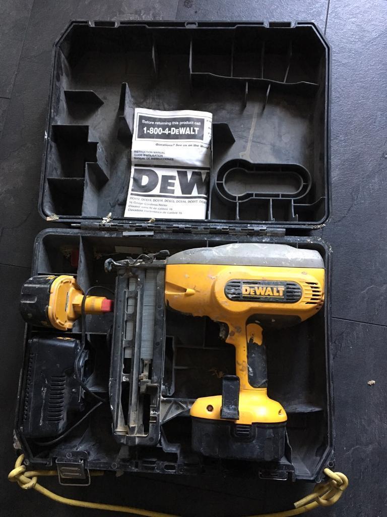 £150ono -Dewalt 18v nail gun 2nd fix