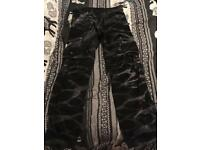 Tie died cargo woman's trousers