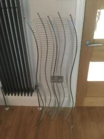 Silver CD rack great condition