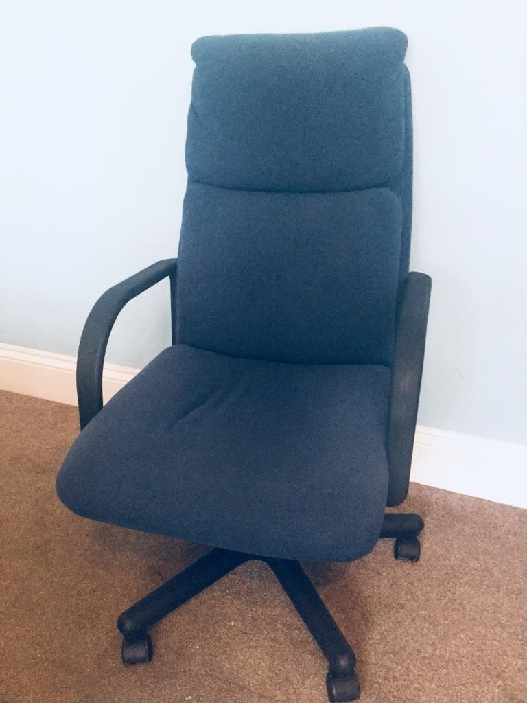Blue Adjule Office Chair With Arms Seat Height Min 18in 46cm