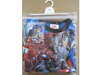 Avengers Assemble Pyjamas Aged 7-8 - Brand New - Genuine Marvel Product