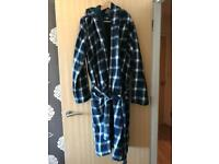 Fat face hooded dressing gown L