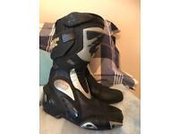 Ladies / junior boys / girls motorbike / motorcycle boots