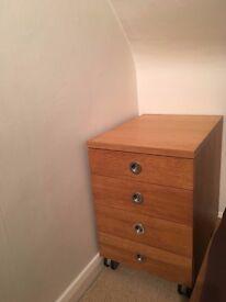 IKEA bedside table on wheels - cabinet bed side