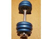 Dumbbell cast iron 10 and 1/2 kg weight