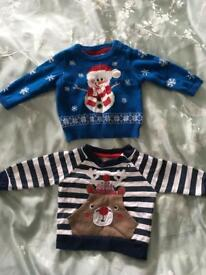 Christmas Jumpers 0-3 Months