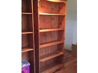 Matching Pine bookshelves