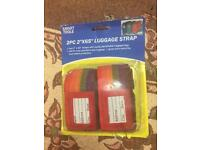 "Luggage Straps 2PC includes tags - 2"" wide 65"" length"