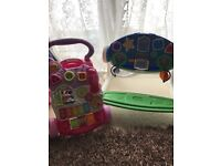 Vetch Baby walker and babies little tikes seated electronic play station