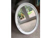 Beautiful old oval mirror