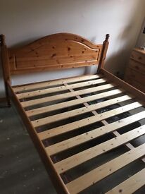 Pine king size 5foot bed