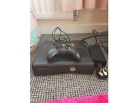 Xbox 360 and 40 games with power lead and controller