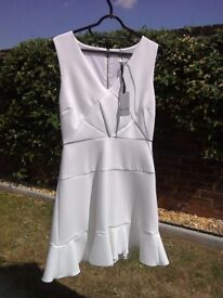 Reiss cream fitted dress. Size 10. Never been worn. Still tagged.