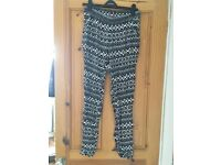 Patterned trousers-H&M