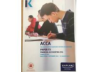ACCA F1 and F3 Kaplan ACCA valid to 31/08/2017