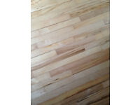 Vintage Canadian maple flooring, reclaimed from gym