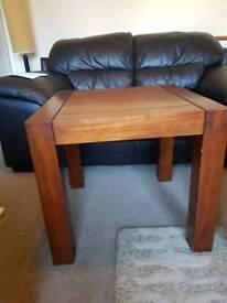 Hardwood side table