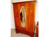 Edwardian bedroom suite - dresser, chest, wardrobe matching set £90