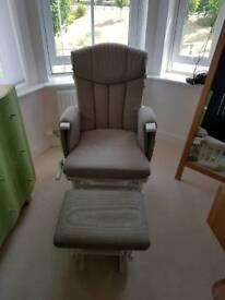 Kub Chatsworth glider nursing chair and stool