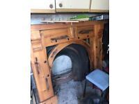 Chuncky pine fireplace