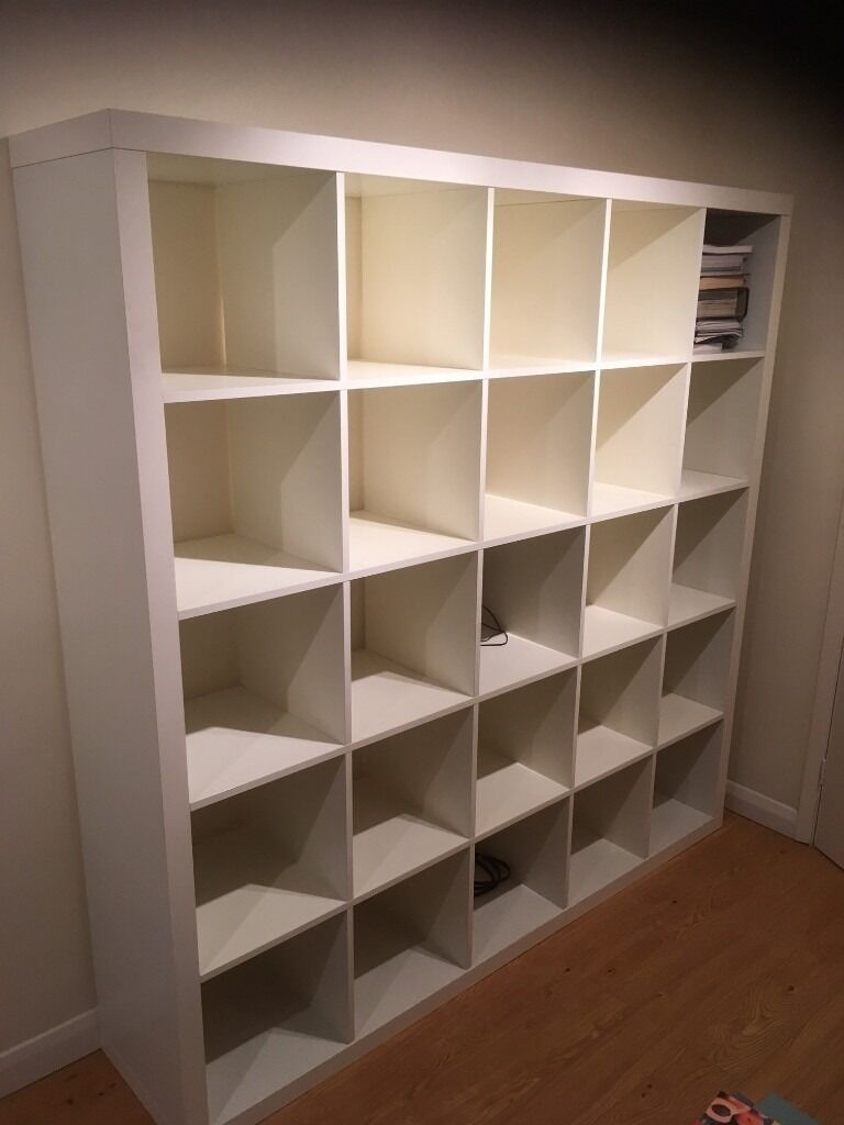 ikea kallax shelving unit 5x5 white in windlesham surrey gumtree. Black Bedroom Furniture Sets. Home Design Ideas