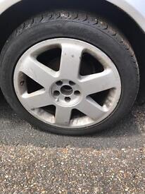 Audi TT 17 inch wheels fit golf mk4 etc