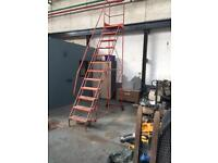 Lorry loading safety stair