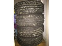 """15"""" Calibre alloy with less than a month old tyres"""