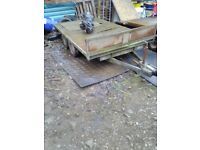 Bateson 10x6 flatbed trailer with dropsides